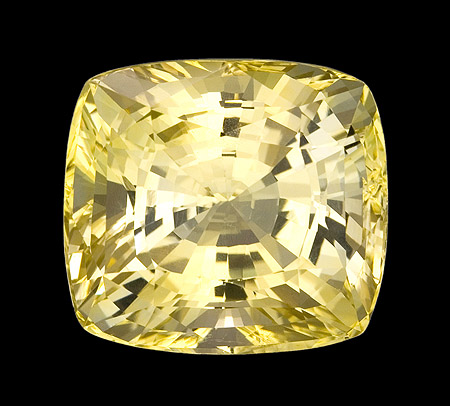 yellow unheated cushion sapphire 20.37 ct