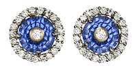 Glenn Lehrer sapphire torus earrings