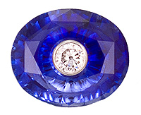 Glen Lehrer oval torus blue sapphire with diamond