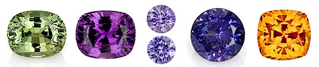 fancy colored sapphires