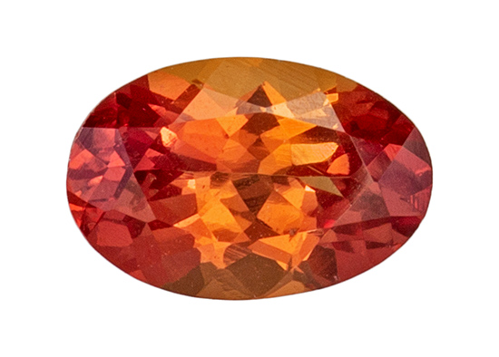 orange sapphire loose Gemstone
