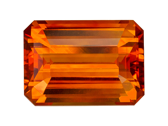 orange sapphire loose Gemstone