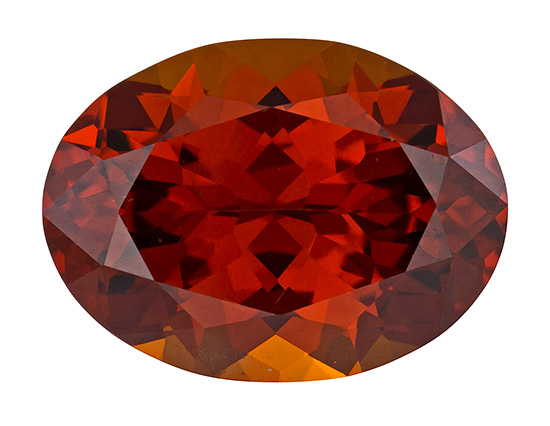 orange hessonite loose Gemstone