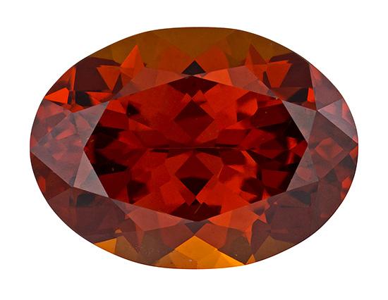 orange hessonite loose Gemstone