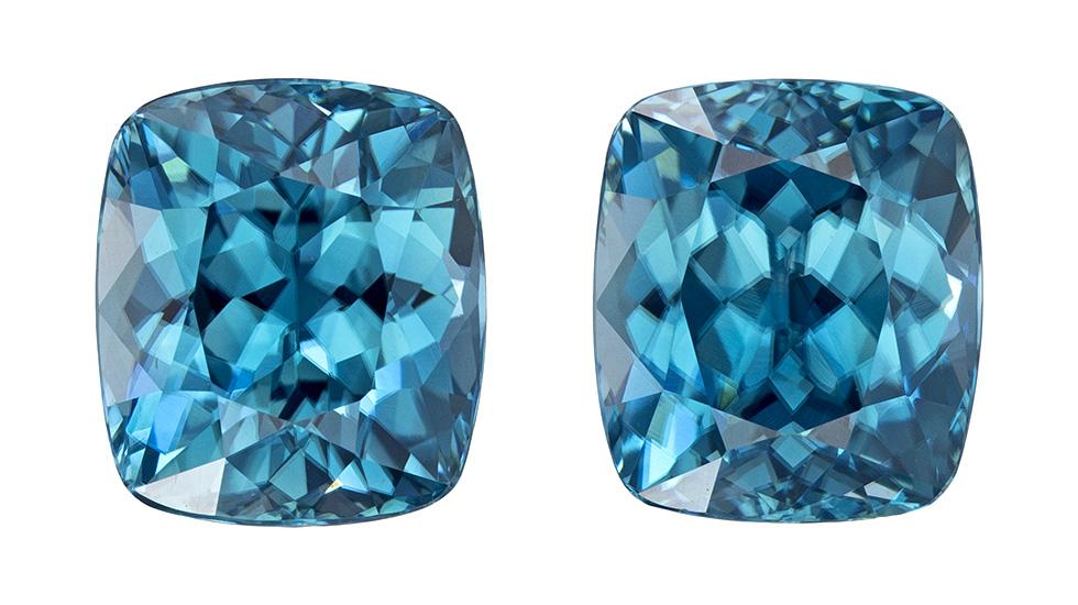blue zircon loose Gemstone