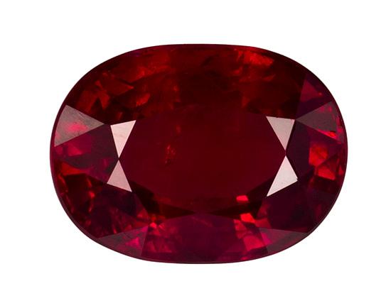 red ruby loose Gemstone