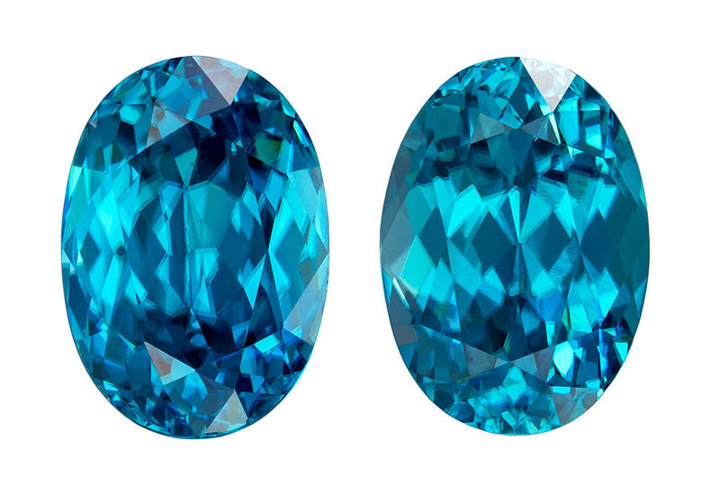 blue zircon loose Gemstone