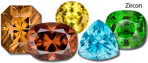 Group of Zircon from Gem 2000
