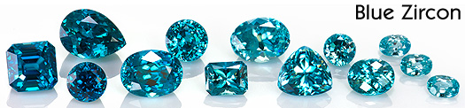 beautiful natural blue zircon