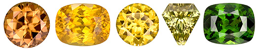 Fancy Color Natural Zircons beautiful